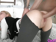 Dakota Skye screwed up and cum facialed by massive cock