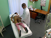Mia pussy check up and gets fucked hard