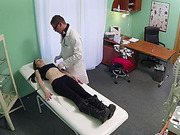 Hot European girl gets fucked by doctor