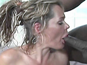 Blonde MILF Kelly Leigh rides a stiff black cock