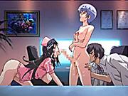 Shemale hentai nurses threesome fucked