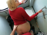 Big juggs Eurobabe fucked with stranger