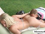 Hot milf Devon Lee enjoying teen couple