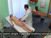 Blonde patient gets fucked by the doctor