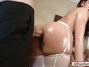 Horny slut Samia Duarte asshole ripped