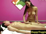 Asian milf masseuse makes customer happy