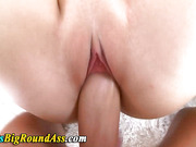 Busty booty babe riding cock