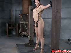 Zipper clamped skank gets dominated