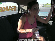 Hot Gabriella gets pounded in the taxi