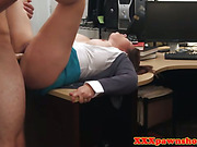 Busty reality chick fucked in pawnshop