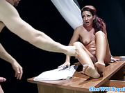 Squirting hussy tied up and banged