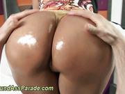Big ass latina booty oiled up