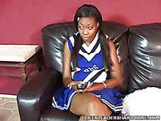 Sweet Ebony Cheerleader Knobbed