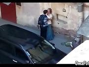 OmaFotze Young guy fucked fat women on public