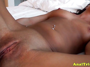 Anal firsttimer learns her first anal lesson