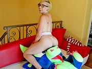 Miley Cyrus look alike teases and fucks