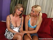 Blonde Mother Daughter Slutty Duo