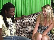 Slutty White Chick Bangs Her First Black Stud