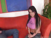 College Cutie Kristina Cannot Resist To Lure Of Easy Money