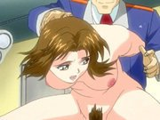 Chained hentai gets injection an enema and electric shock