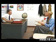 Hot teen gets banged by a horny teacher