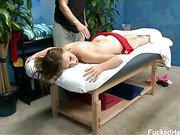 This 18 year old beauty gets fucked hard during her massage session. Lucie was practically begging to be fucked hard on the massage table.