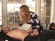 A couple enjoy a session of rough sex