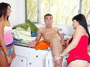 Stepmom Eva sex affair a with young guy